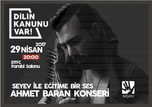 Rentrent Duyurular -Ahmet BARAN'nın SEYEV İLE EĞİTİME BİR SES Konseri