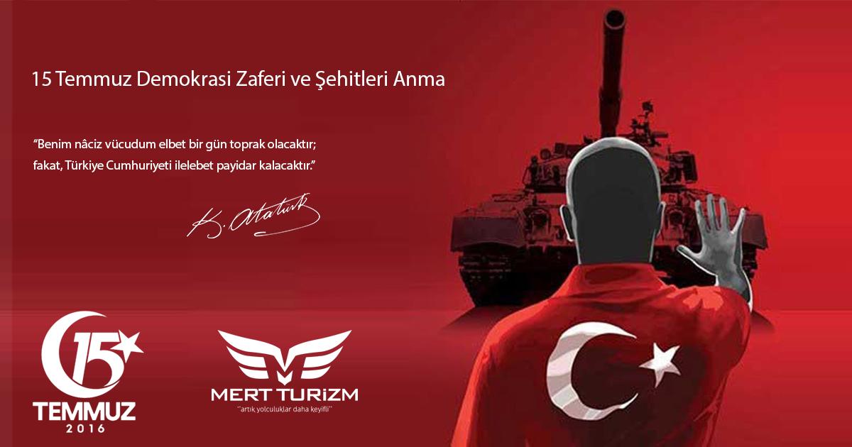 15 Temmuz Demokrasi Zaferi ve Şehitleri Anma